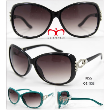 New Ladies Plastic Sunglasses with Metal Decoration (WSP601531)