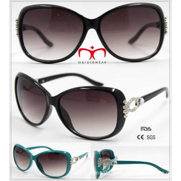 New Ladies Plastic Sunglasses with Metal Decoration (WSP601531)