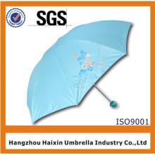 Paraguas solar anti UV de precio bajo con el logotipo para la promoción de verano