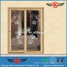JK-AW9123 Aluminium belle couleur intérieur verre dépoli porte intérieure