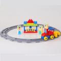 Brinquedos de conexão plásticos do trem do bloco 33PCS