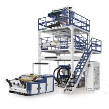 Machine de soufflage de film de PE de co-extrution de couches de 800mm haut rendement ABA 3 pour la bâche en plastique