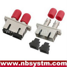 SC / PC - ST / PC HYBIRD métal Singlemode Adaptateur duplex
