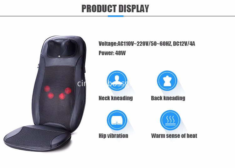 Foldable Shiatsu Massage Cushion
