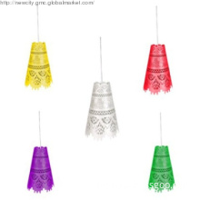 cone shaped hollow-out hanging lamp,lampshade,pendant lamp,E14