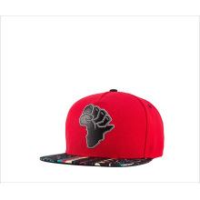 Map sticker embroidered flat rim cap baseball cap