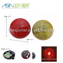 Round shape LED bicycle warning light safety strobe light