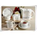 Wholesale High Quanlity Porcelain Dinnerware Set Bone China Coffee Cup Set