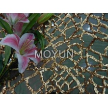 POLI MESH COM 5MM SEQUIN EMBD 50/52 ""