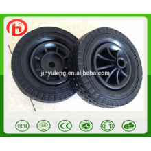 6*2 prevent puncture not flat pu foam solid wheel pu wheel for trolley truck