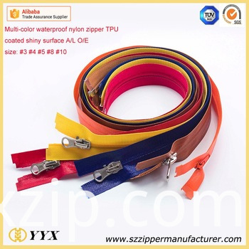 TPU waterproof zipper