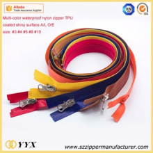 Good quality TPU coating reversible waterproof zipper