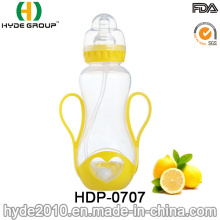 Neu 250ml PP BPA frei Plastikflasche, maßgeschneiderte Kunststoff Baby Babyflasche (HDP-0707)
