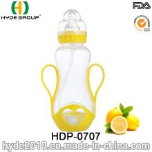 Botella de alimentación plástica recientemente libre de 250ml PP BPA, botella de alimentación plástica modificada para requisitos particulares del bebé (HDP-0707)