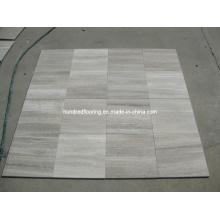 Mármol de veta de madera gris para la pared y la baldosa del piso