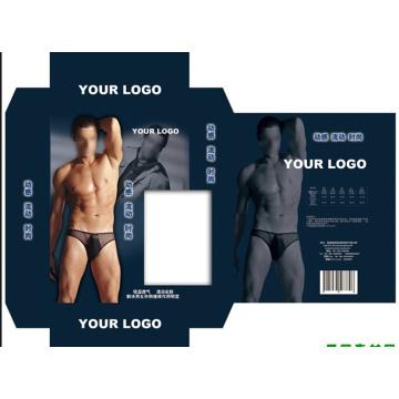 Plane forme pliage sous-vêtements emballage noir papier boîte qualité choix