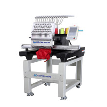 new condition single head computerized embroidery machine for cap jackets curtain blouses flat embroidery price