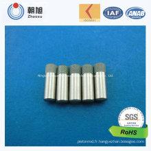Broche en métal non standard faite sur commande d'usine d'OIN