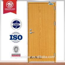 BS porta de fogo de madeira padrão porta de fogo de 30-120min porta de fogo