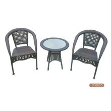 Stock usé de meuble en osier Bistro Set Accept Min Order