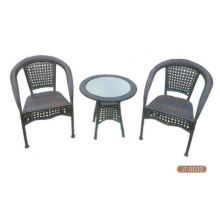 Stock used wicker furniture Bistro Set Accept Min Order