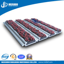 Aluminum Alloy Hotel Entrance Mat with Carpet Inserted