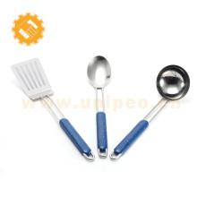 3 pcs set new design handel stainless steel kitchenware/cooking utenseil set