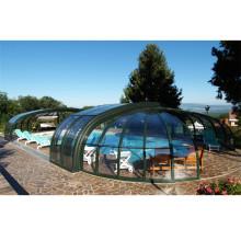 Cerramientos de piscina de aluminio para piscinas de vidrio