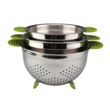 Fruit Basket Sink Stainless Steel Strainer Metal Colander