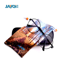 Soft Colorful Screen Print Microfiber Pouch