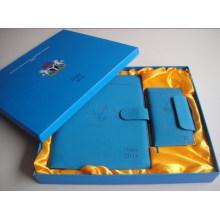 Высокое качество кожаный блокнот с подарочной коробке