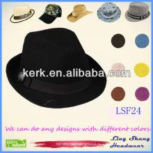 2013 Direkte Fabrik Preis Fabric Fedora Hüte zum Verkauf coole Eimer Hüte, LSF24