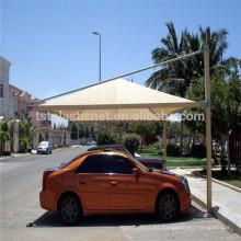 carport de circulación de aire velas de sombra para el lugar comercial