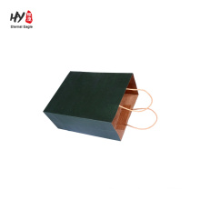 Kraft shopping with printed color durable twsit paper handle bag