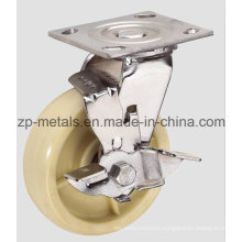 4inch Heavy-Duty Nylon Caster Wheel with Brake