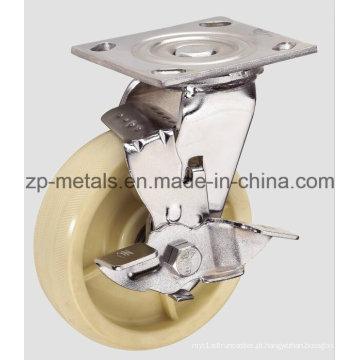 Roda de rodízio de nylon resistente de 4inch com freio