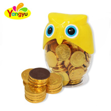 Chocolate Coin Exporter Funny Owl Jar Sweet Chocolate Coin