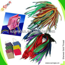 Cotton Braided twist handle Rope/String round and flat used for paper bags and shoelace