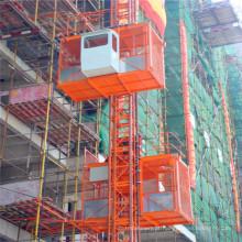 Maquinaria de construção dobro da grua do passageiro da construção da gaiola Sc200 / 200