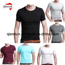 T-shirt dos homens feitos sob encomenda do algodão (ZJ059)