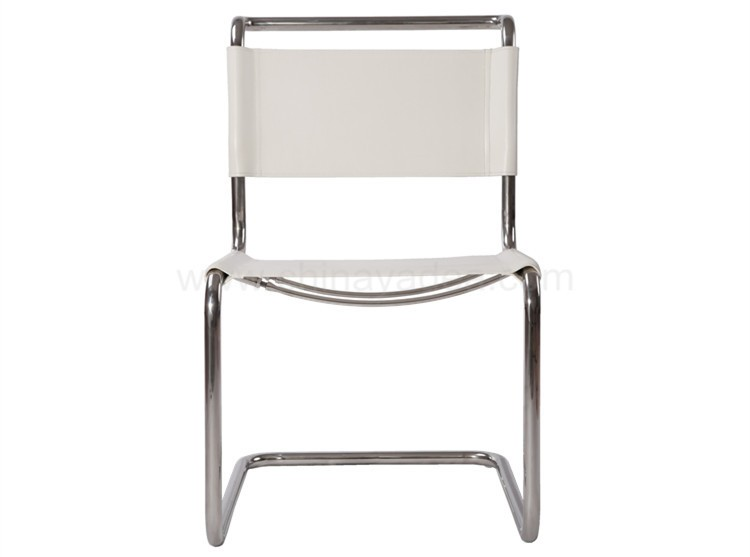 Saddle leather Cantilevered S33 Chair by Mart Stam for Dining Room