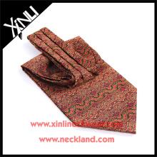 Китай Производитель полиэстер трафаретная печать галстуки для мужчин на заказ Аскот