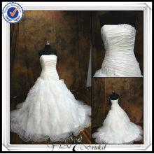 JJ0065 Ball Gown Grecian Style Wedding Dresses with ruffled organza bottom