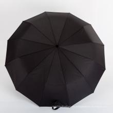 Kundenspezifischer schwarzer männlicher Regenschirm Wittchen