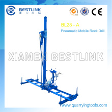 Cantera roca móvil Vertical línea de máquinas de perforación