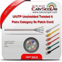 Structure Câblage U / UTP Unshielded Twisted 4 Pairs Catégorie 5e Patch Cord