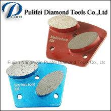 Outils de segment métallique de broyeur de plancher Disque abrasif abrasif de diamant de sol