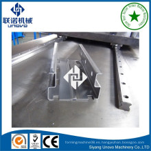 Wuxi ciudad UNOVO góndola panel de almacenamiento de rack / columna / vertical / pilar rodillo que forma la máquina
