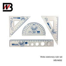 Blue Standarded 4 In1 Plastic Ruler Office Stationery