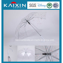 Promocional Auto Open Parasol de lluvia transparente